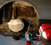 Rustbeskyttelse Sprøyting av hjulhus