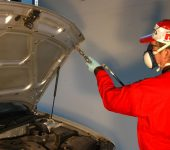 Rustbeskyttelse Sprøyting front og panser